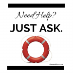 Image of a lifebuoy with the text